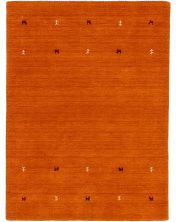 Wollteppich Gabbeh Uni Orange
